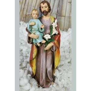 Resin Saint St Joseph W/ Jesus Christ Child